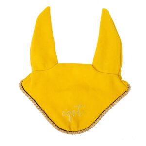 Nauszniki Velvet żółty
