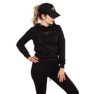 Bluza z kapturem czarna