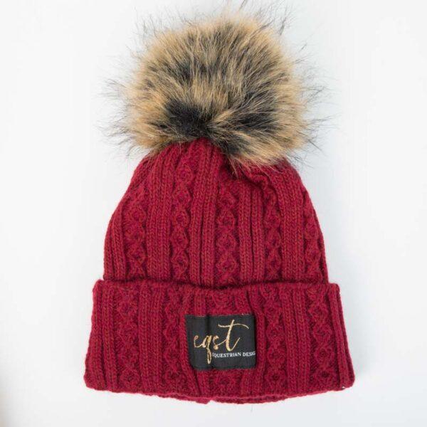czapka zimowa bordowa