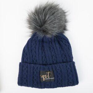 czapka zimowa granatowa