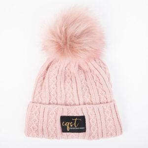 czapka zimowa różowa