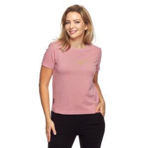 T-shirt klasyczny różowy