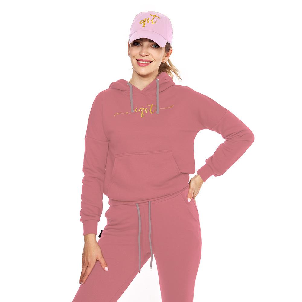 Bluza z kapturem różowa